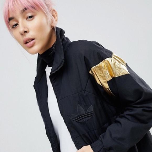 adidas Originals Gold Panel Jacket In Black